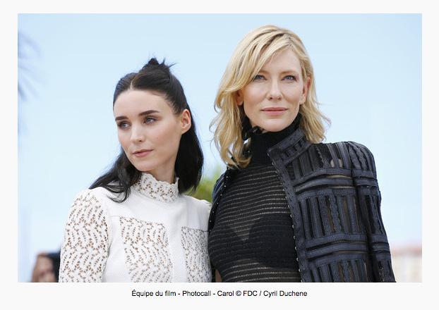 """Rooney Mara und Cate Blanchett in """"Carol"""", © Cyril Duchene"""