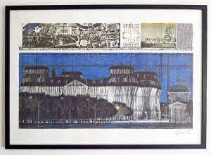 © Christo 1994 - Wrapped Reichstag - Drawing in two parts - Offset Print in France