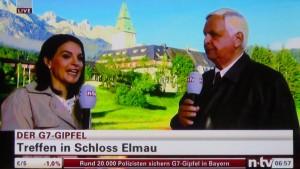 G7 Gipfel auf Schloss Elmau, Berichterstattung auf NTV am Morgen, des 7. Juni 2015