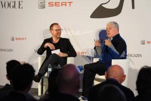 v. l. Christoph Amend und Tim Blanks, credit: ZEITmagazin Konferenz