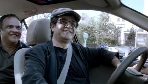 Jafar Pannahi in seinem Taxi durch Teheran, credit: Weltkino Filmverleih