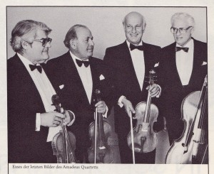 Amadeus Quartett, ca. 1986