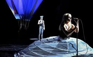 """""""Clavigo"""" vom Deutschen Theater Berlin, Marcel Kohler und Susanne Wolf © Arno Declair"""