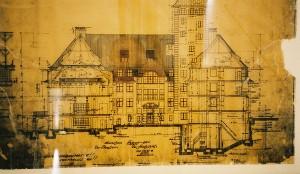 Die ursprünglichen Pläne für den Bau von Schloss Elmau 1916 © Schloss Elmau