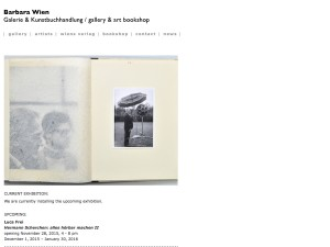 Galerie Barbara Wien November 2015