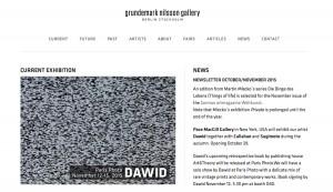 Galerie Grundemark Nilsson November 2015