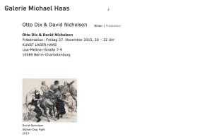 Galerie Michael Haas - November 2015
