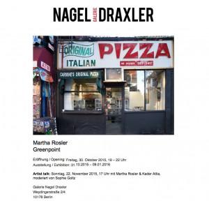Galerie Nagel Draxler - November 2015