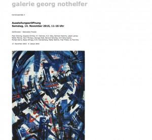 Galerie Georg Nothelfer - November 2015