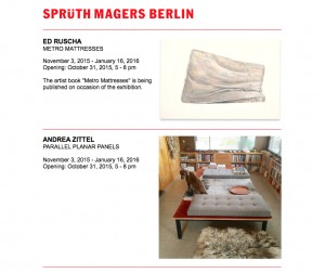 Galerie Sprüth Magers - November 2015
