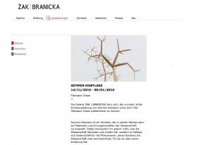Galerie Zak Branicka - November 2015