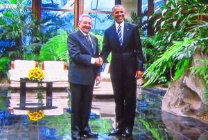 Barack Obama und Raoul Castro am 22.3.2016 in Havanna, Kuba