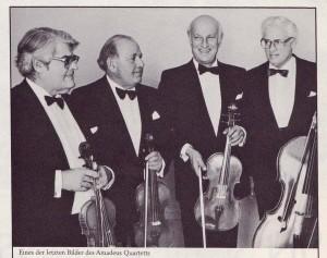 Das Amadeus Quartett auf Schloss Elmau, ca. 1975 © Schloss Elmau