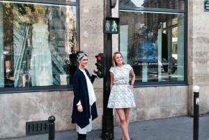 Die Designerinnen Nobi Talai und Marina Hoermanseder, Der Berliner Mode Salon zu Gast im Goethe Institut Paris © Berliner Mode Salon