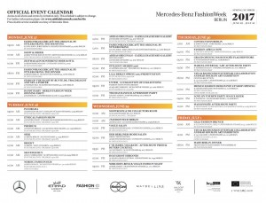 Schedule for the Side Events © MBFWB