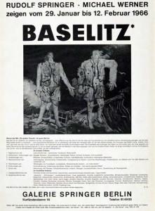 """Ausstellungs-Plakat der Galerie Springer 1966, Georg Baselitz, Ausstellung """"Die Helden"""" im Frankfurter Städel Museum 2016 © Museum Städel Frankfurt"""
