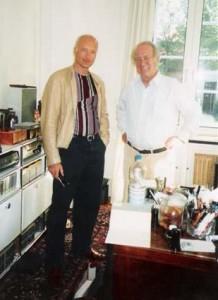 Bundespräsident Johannes Rau und Holger Jacobs in Berlin-Dahlem 2004 © Holger Jacobs