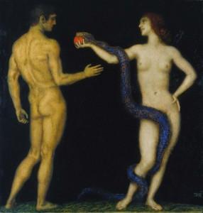 """Franz von Stuck """"Adam und Eva"""", 1920, Foto: Städel Museum"""