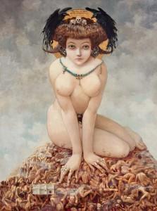 """Gustav Adolf Mossa """"Sie"""", 1905, Foto: Laurent Thareau"""