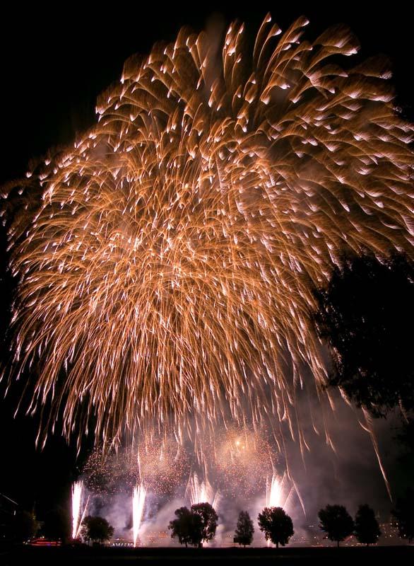 Feuerwerk, Foto: Ruben Wienieswki
