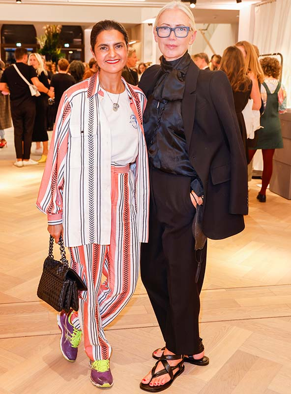 Leyla Piedayesh (LaLa Berlin) und Christiane Arp (Vogue), Photo: Isa Foltin